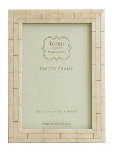 Eccolo Wall Bone Wood Frame, 8 by 10-Inch