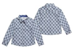@KENZO Kids Spring Summer 2014, blue cotton long sleeved shirt #animalkingdom #kenzo #kenzokids #childrens #kids #childrenswear #kidswear #kidsfashion #girls #boys