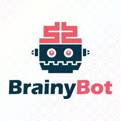 Exclusive Customizable Logo For Sale: Brainy Bot   StockLogos.com https://stocklogos.com/logo/brainy-bot