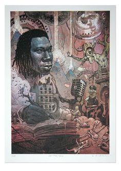 dan lish hip hop art - KRS-One Hip Hop And R&b, Love N Hip Hop, Art Of Dan, Krs One, Arte Hip Hop, Hip Hop Artists, Black Art, Graffiti, Street Art