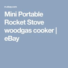Mini Portable Rocket Stove woodgas cooker | eBay