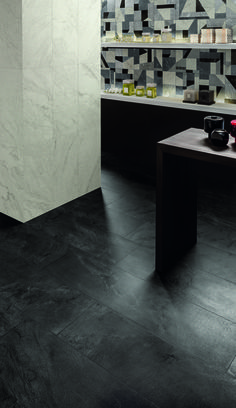 iNNER stone-like collection with Tangram decor: unique natural inspiration from quartzite for modern spaces and interiors.