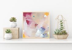 Buy the abstract painting online. Modern abstract painting, acrylic colors on canvas board.This painting is handmade, original artwork. Pastel Artwork, Colorful Wall Art, Artwork Online, Online Painting, Pink Abstract, Abstract Wall Art, Small Paintings, Original Paintings, Hand Painting Art