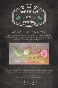 Knitting Pattern for ChillOut Socks by Butzeria on Etsy Reading Charts, How To Purl Knit, Knitting Patterns, Socks, Etsy, Amazing, Simple, Cast On Knitting, Hosiery
