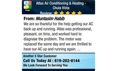 We are so thankful for the help getting our AC back up and running. Atlas was...