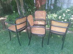 Thonet Chair Set Stendig Cane Chairs Bentwood by HarrisMarksHome