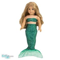 Celtic Green Doll Tail and Top - American Girl