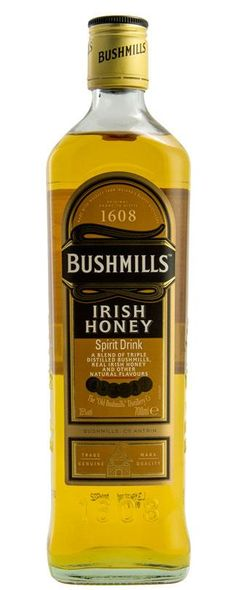 Bushmills Irish Honey is a blend between Bushmills Tripled Distilled Pot still Irish Malt Whiskey, a lighter Column Still Irish Grain Whiskey and Irish Honey. Scotch Whiskey, Irish Whiskey, Bourbon Whiskey, Bourbon Drinks, Whiskey Decanter, Whiskey Glasses, Whiskey Bottle, Fun Drinks, Alcoholic Drinks