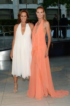 Pin for Later: The Hottest Date Last Night Was a Fashion Designer Heidi Klum and Donna Karan