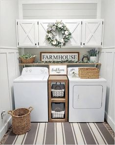Below are the Farmhouse Laundry Room Storage Decoration Ideas. This post about Farmhouse Laundry Room Storage Decoration Ideas was posted … Small Laundry Rooms, Laundry Room Organization, Laundry Room Design, Laundry Decor, Decorate Laundry Rooms, Storage Organization, Laundry Area, Organized Laundry Rooms, Organization Ideas For The Home