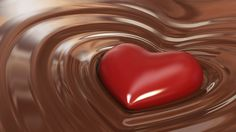 Chocolate Heart HD Wallpaper