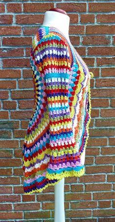 Crochet Poncho, Knit Crochet, Hippie Crochet, Crochet Circles, Crochet Clothes, Crochet Projects, Cross Stitch, Knitting, Sweaters