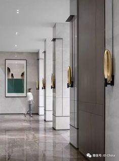 Inside the Place Du Palais Bourbon by Studio KO Coridor Design, Lobby Design, Wall Design, Lobby Interior, Luxury Interior, Interior Architecture, Hotel Corridor, Corridor Ideas, Adams Homes