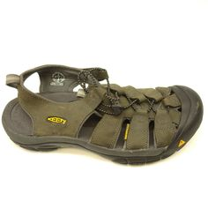 e0a8949c1ff6 KEEN Newport US 10 EU 43 Brown Leather Hiking Walking Sandals Water Mens  Shoes  KEEN