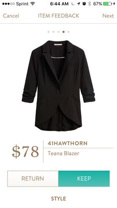 41 Hawtgorn Teana Blazer. I love Stitch Fix! A personalized styling service and it's amazing!! Simply fill out a style profile with sizing and preferences. Then your very own stylist selects 5 pieces to send to you to try out at home. Keep what you love and return what you don't. Only a $20 fee which is also applied to anything you keep. Plus, if you keep all 5 pieces you get 25% off! Free shipping both ways. Schedule your first fix using the link below! #stitchfix @stitchfix. Stitchfix…