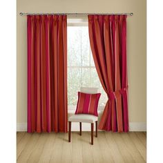 Porter Ready Made Curtains Chilli £46.50
