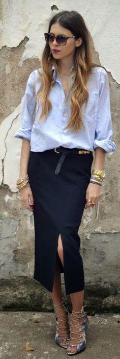 Maja Wyh Black Pencil Maxi Skirt
