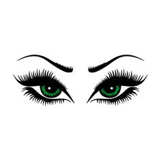 Eye Lashes Cuttable Design Cut File. Vector, Clipart, Digital Scrapbooking Download, Available in JPEG, PDF, EPS, DXF and SVG. Works with Cricut, Design Space, Cuts A Lot, Make the Cut!, Inkscape, CorelDraw, Adobe Illustrator, Silhouette Cameo, Brother ScanNCut and other software.