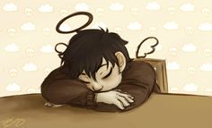 He looked so peaceful and almost angelic while sleeping. -Reyna I agree with you Reyna but he is already an angel. Raphodraws thank you so much this GIF is beautiful. Art by raphodraws.