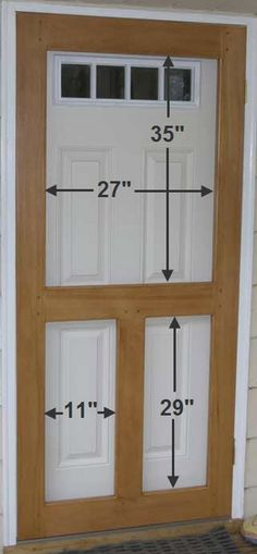 How to build a screen door diy head