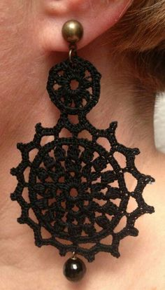 earrings crochet ivy handmade