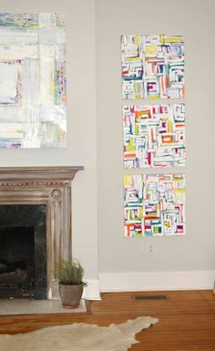 123013 triptych- oil on canvas by lindsay cowles fine art