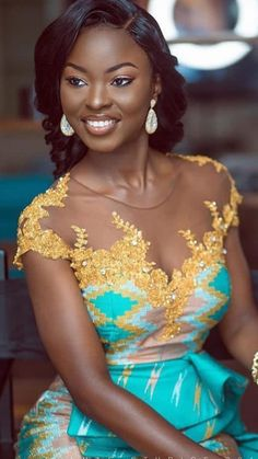 Latest Kente Styles For Engagements 2019 Latest Traditional Dresses, African Traditional Wedding Dress, African Fashion Traditional, African Prom Dresses, Latest African Fashion Dresses, African Print Fashion, African Dress, Kente Dress, African Lace Styles