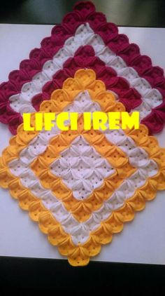 Discover thousands of images about My DIY crochet pattern Diy Crochet Patterns, Crochet Motif, Crochet Designs, Crochet Doilies, Crochet Flowers, Crochet Stitches, Crochet Square Blanket, Crochet Squares, Baby Blanket Crochet