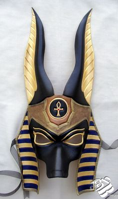 Egyptian Jackal Anubis Leather Mask by B3leatherdesigns on Etsy, $150.00