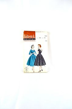 1950s Vintage Butterick Pattern 7197 Misses by TabbysVintageShop, $18.00