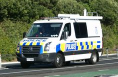 New Zealand Police Armed Offenders Squad VW Crafter Van
