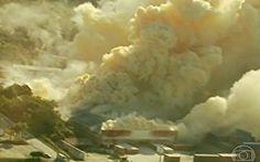 Bombeiros não conseguem controlar ∆incêndio químico∆ em cidade de Santa Catarina
