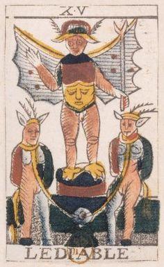 Tarot de Jean Noblet - O diabo - Origens do tarot de marseille na Itália