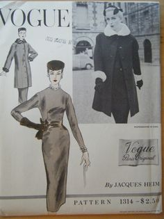Vogue Paris Original Jacques Heim 1314 by garmentdistrict on Etsy