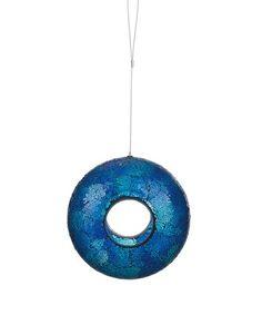 This Blue Glass Mosaic Bird Feeder is perfect! #zulilyfinds