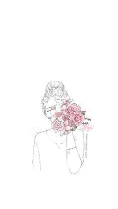 Wallpaper World, Flower Phone Wallpaper, Cute Little Drawings, Cute Kawaii Drawings, Aesthetic People, Cute Cartoon Wallpapers, Art Drawings Sketches, Art Plastique, Anime Art Girl