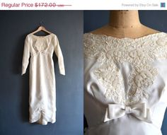 25 OFF  SALE  60s wedding dress / 1960s wedding by BreanneFaouzi, $129.00