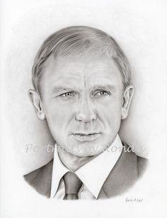 Daniel Craig by rondawest {from USA} ~ pencil portrait