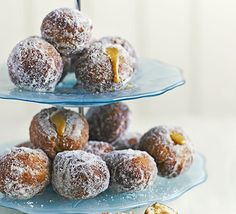 Bite-sized toffee apple doughnuts 183kcal but maybe these can be baked like the mincemeat or jam ones?