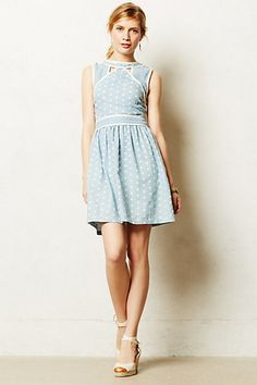 Chambray Dot Dress #anthropologie #anthrofave