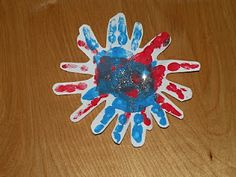 4th of July Handprint Fireworks Craft for kids