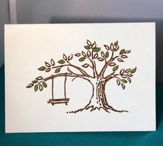 Hey, I found this really awesome Etsy listing at https://www.etsy.com/listing/197295769/set-of-6-hand-stamped-tree-with-swing