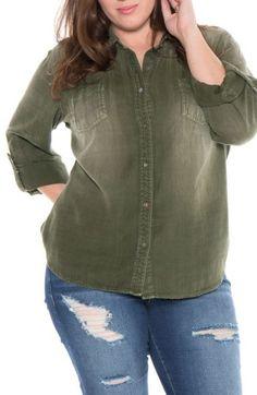 9b3583b5304 Plus Size Women s Slink Jeans Plaid Western Shirt Plus Size Tops