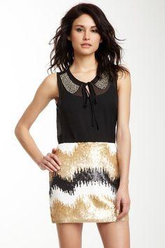 Sequin Skirt / Embellished Blouse