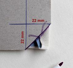 Grimmskram: Servietten mit Ruckzuck-Briefecken-Tutorial