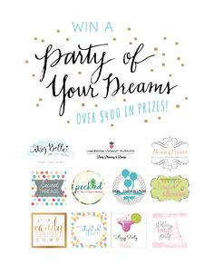 Win a Party of Your Dreams! Over $450 in prizes!!! Easy Entry!