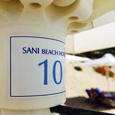 #ToDekaToKalo #SanTiXalkidikiDenExei #paradise #bousoulas Sani Beach, Paradise, Tableware, Instagram, Dinnerware, Dishes, Heavens, Porcelain Ceramics, Heaven