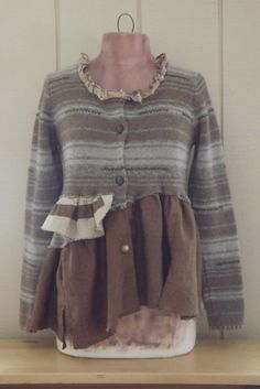 Lagenlook+Peasant+Inspired+Sweater+Tunic+by+bluemermaiddesigns