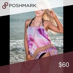 Pink Shells Spaghetti Top Beautiful spaghetti top!!. Adjustable straps  perfect for this Summer 🍧 Tops Camisoles