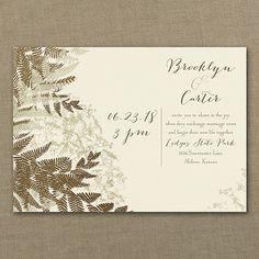 Into the Woods Wedding Invitation - Ecru 40% OFF     http://mediaplus.carlsoncraft.com/Wedding/Wedding-Invitations/3283-LL36018EC-Into-the-Woods--Invitation--Ecru.pro